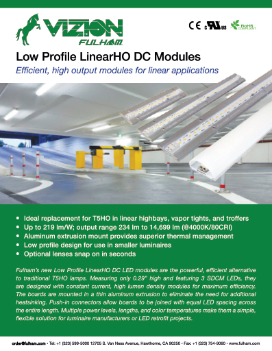 Low Profile LinearHO LED Modules